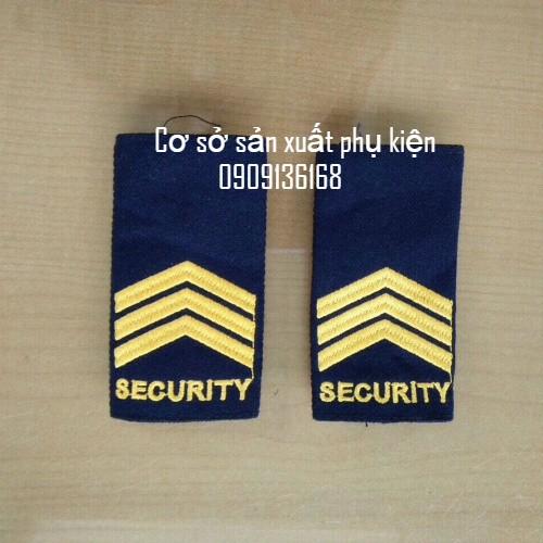 Cầu vai bảo vệ security thêu