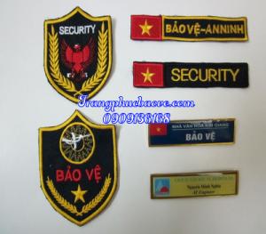Logo thêu tay áo bảo vệ