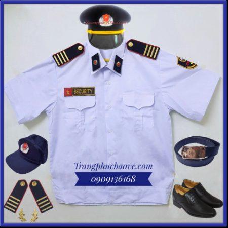 Đồng phục bảo vệ màu trắng